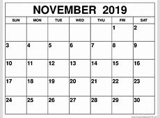 Free Printable Calendar Templates 2019 – April to December