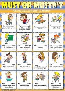 Must, Or, Mustn, U0026, 39, T, Classroom, Rules, Worksheet