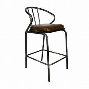 Chaise Industrielle Cuir : chaise haute metallique industrielle assise rembourre en cuir cbr 568 one mobilier ~ Teatrodelosmanantiales.com Idées de Décoration