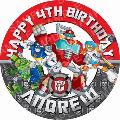 Rescue Bots Cake Edible Transformers Toppers Topper