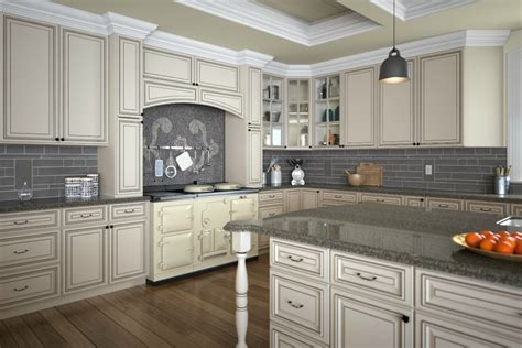 fully assembled kitchen cabinets signature vanilla glaze pre assembled kitchen cabinets 3668