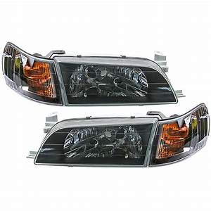 Front Black Headlights Corner Lamp Fits Corolla Ae100