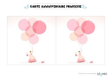 Carte Anniversaire Princesse à Imprimer Momesnet