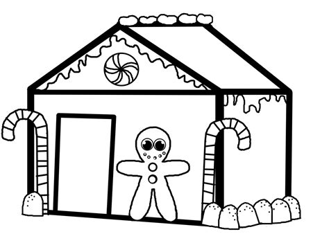 gingerbread house coloring pages coloringsuitecom