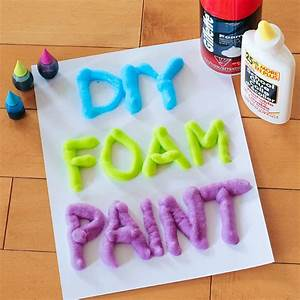 3 Ingredient DIY Foam Paint - A Little Craft In Your Day