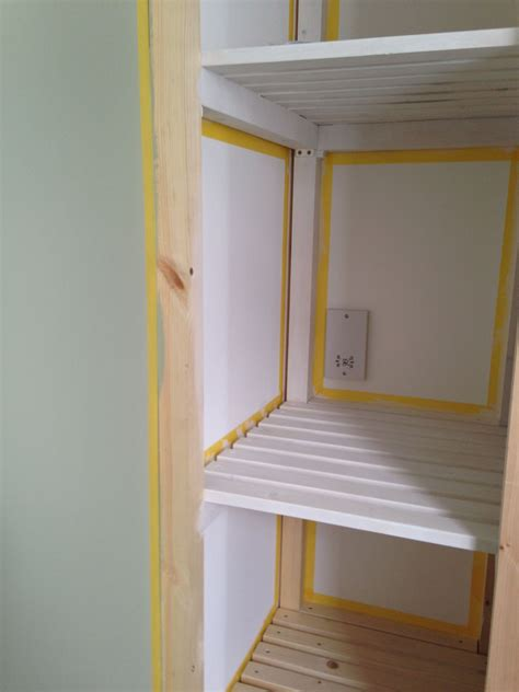 Cupboard Shelving paint slatted shelves search hallway shelving