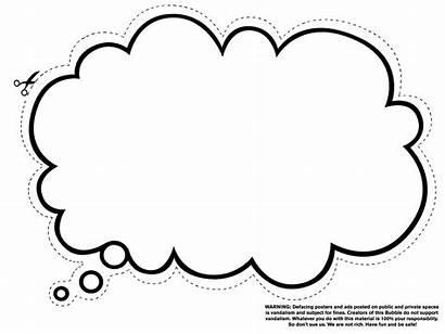 Bubble Dream Clipart Thought Bubbles Clip Coloring