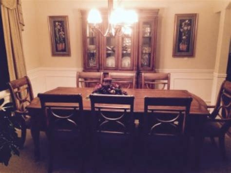 dining room table and hutch dining room set table 8 chairs and china hutch kent