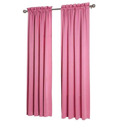 sun zero pink gregory room darkening pole top curtain
