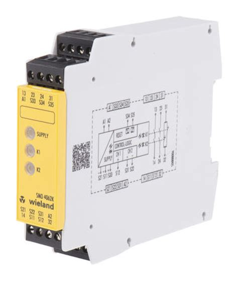 sno 4062k a 00c sno 4062 safety relay dual channel 24
