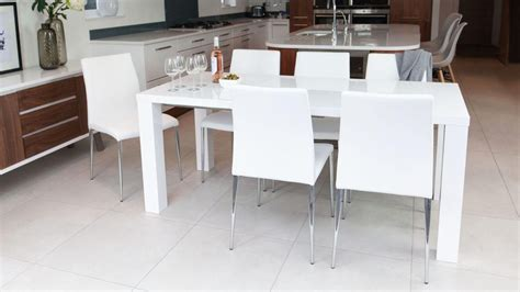 high gloss white dining tables  chairs dining