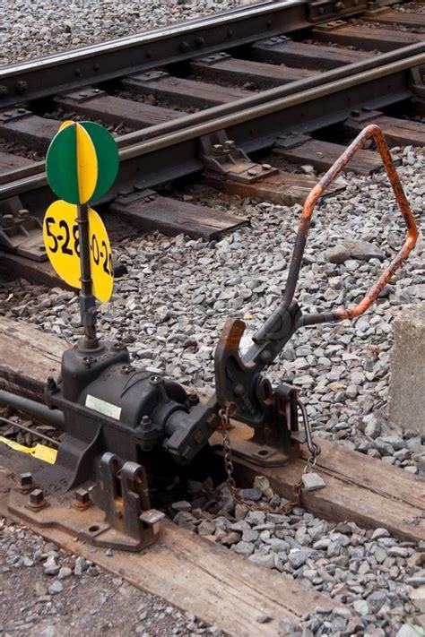 manual railway switch stock photo colourbox