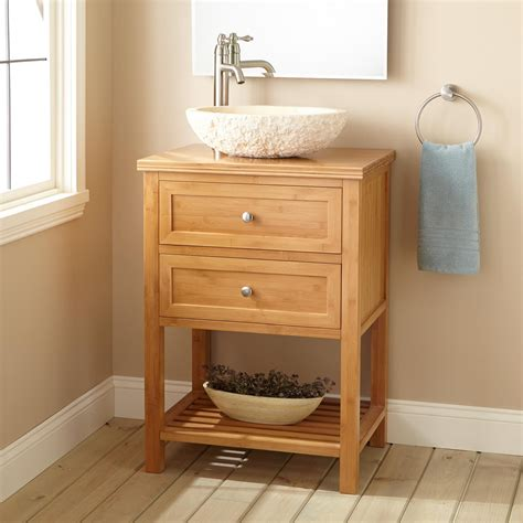 narrow depth cabinet 24 quot narrow depth taren bamboo vessel sink vanity bathroom