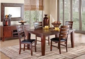 7 pc dining room set lake tahoe brown 7 pc rectangle dining room dining room sets wood