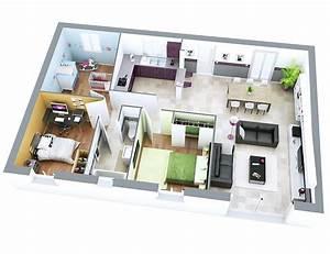 Plan Interieur Maison : plan maison individuelle mod le sun ardoise top duo ~ Melissatoandfro.com Idées de Décoration