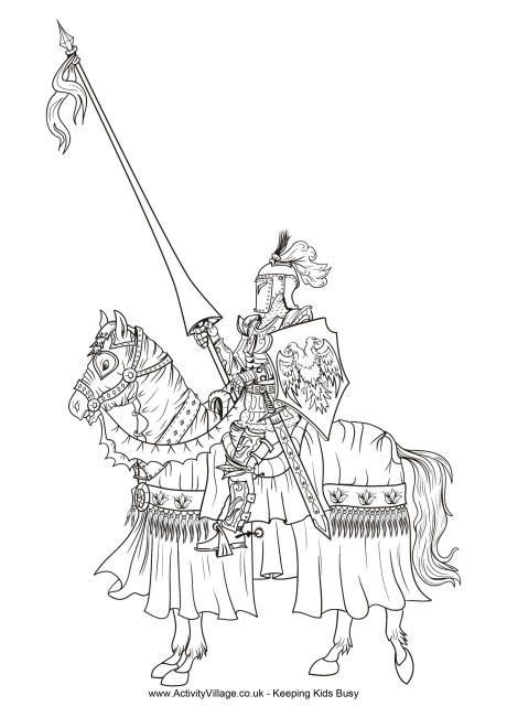 knight colouring page grimoire coloring pages adult