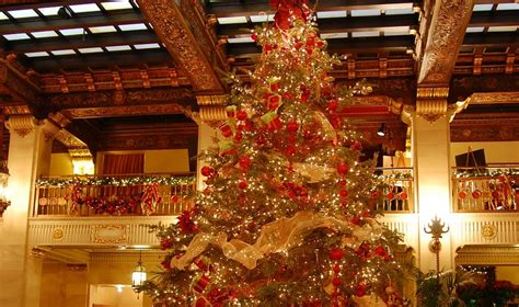 the davenport hotel and tower christmas tree elegance