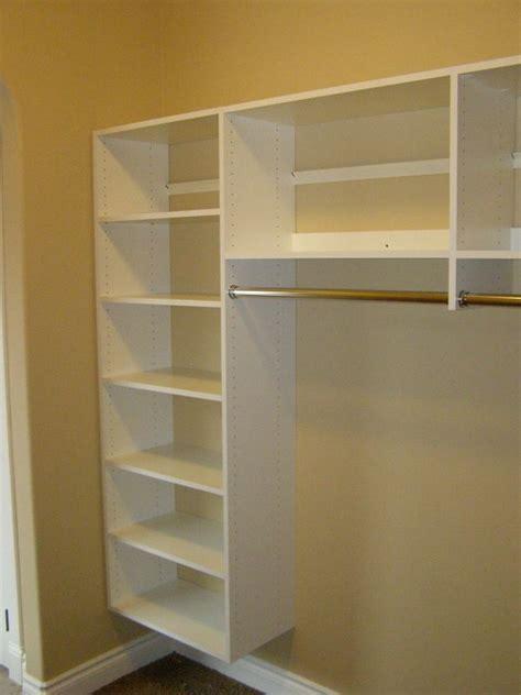 Wardrobe Shelving Systems by Closet Shelves Basic White Closet Storage Shelves And