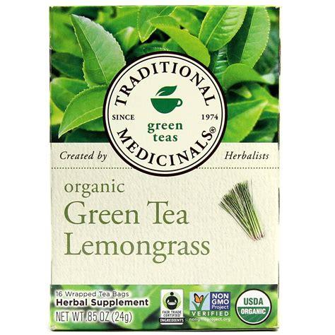 Traditional Medicinals Organic Green Tea, Lemongrass  16
