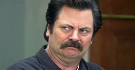 Ron Swanson is deeply offended that Donald Trump went into
