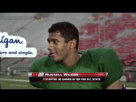 fall football  wisconsin qb russell wilson interview