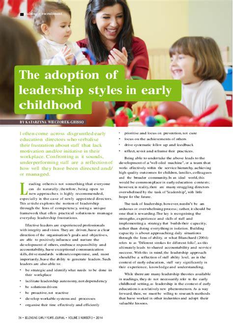 leadership styles  early childhood katarzyna