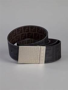 Fendi Monogram Belt in Black for Men | Lyst