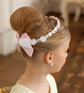 kids hair style for parties with high knot HairzStyle Com : HairzStyle
