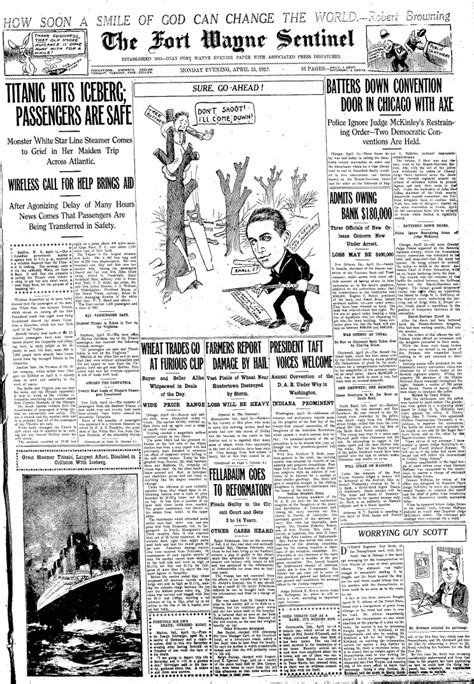 MaritimeQuest - Front Pages April 15, 1912 Page 2