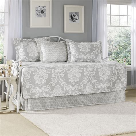 Laura Ashley Daybed Bedding by Laura Ashley Venetia Grey 5 Piece Cotton Daybed Set