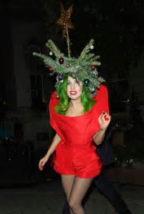 singer lady gaga arrrives at her london hotel dressed as a christmas tree celebrity news