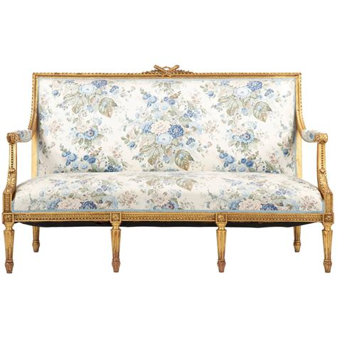 Settee Furniture by Louis Xvi Style Giltwood Antique Settee Sofa Canape