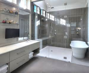 Bathroom with Tub and Shower Wet Rooms