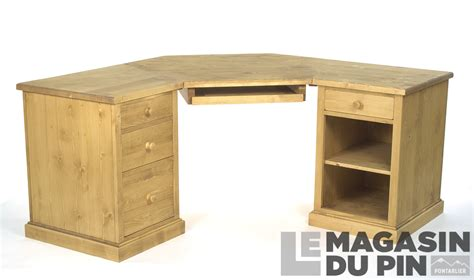 bureau d angle bois massif bureau d 39 angle en pin massif chamonix le magasin du pin