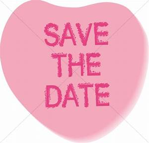Save the Date Candy Heart | Christian Wedding Clipart