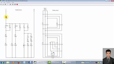 phase motor control circuit star delta