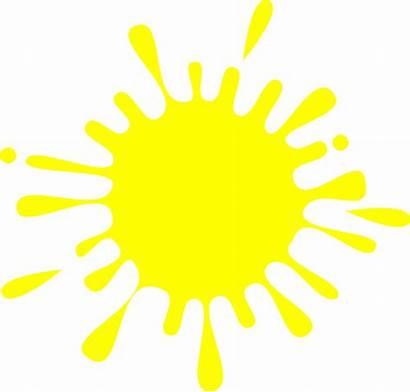 Yellow Splash Ink Clip Clipart Clker