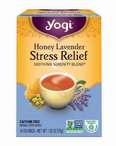 Stress Relief Lavender Tea Yogi Honey Teas