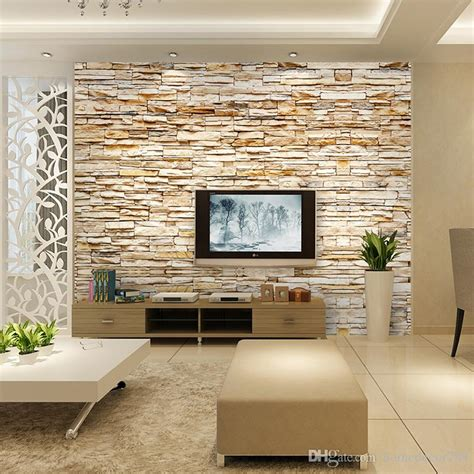 woven fashion  stone bricks wallpaper mural