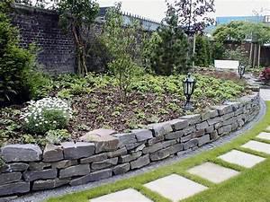 Gartengestaltung Mit Naturstein Mauern Wasserläufe Und Terrassen : natursteinmauer galabau m hler traumgarten ~ Orissabook.com Haus und Dekorationen