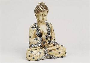 Buddha Figuren Kaufen : buddha elfenbeinoptik sch ne figur 16cm asiatika ebay ~ Indierocktalk.com Haus und Dekorationen