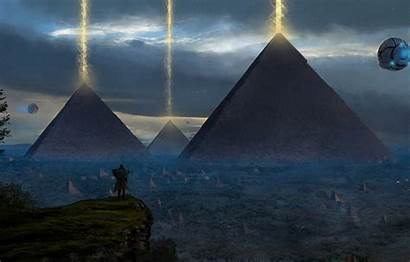 Pyramid Concept Painting Ancient Wallpapers