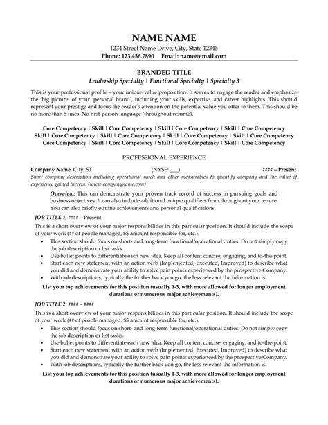 Z Resume by Resume Exle Resume Sle All Level Resumes Resume