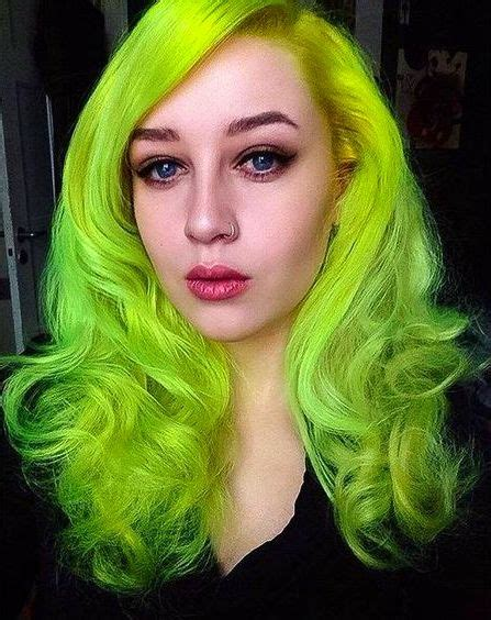 Neon Green Hair Color Hair Colors Ideas