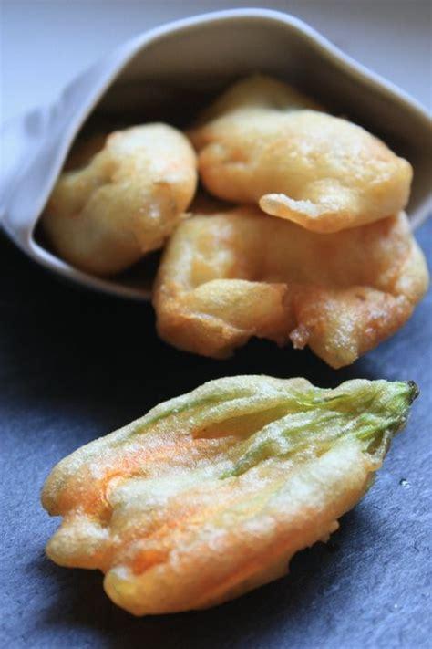 beignets de fleurs de courgette cuisine fleurs de courgettes courgettes et fleur