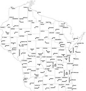 Wisconsin Counties Map with City