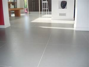 Resine Sol Blanc Brillant : carrelage blanc brillant grand format carreau ciment au ~ Premium-room.com Idées de Décoration
