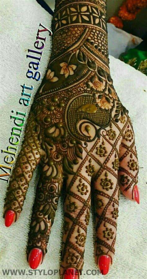 beautiful mehndi designs  asian brides  stylo planet