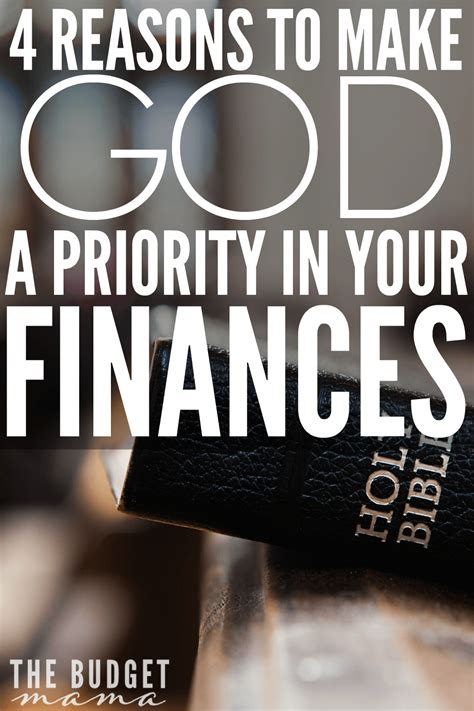 4 Reasons To Make God A Priority In Your Finances  Jessi Fearon