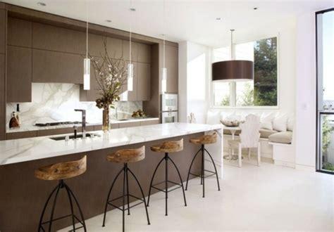 cuisine marron et blanc 24 idées pour la décoration d 39 une cuisine minimaliste design